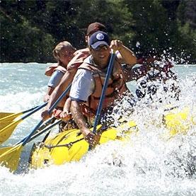 Rafting near Chamonix