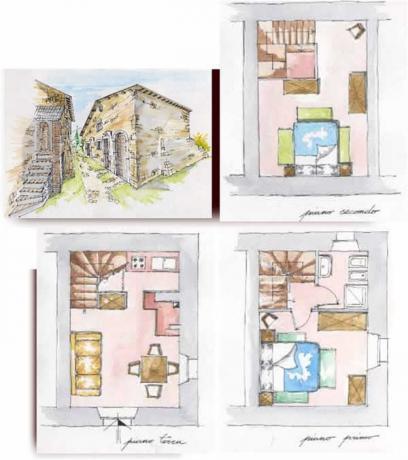 Appartamento Castagna, Trilocale 4+2