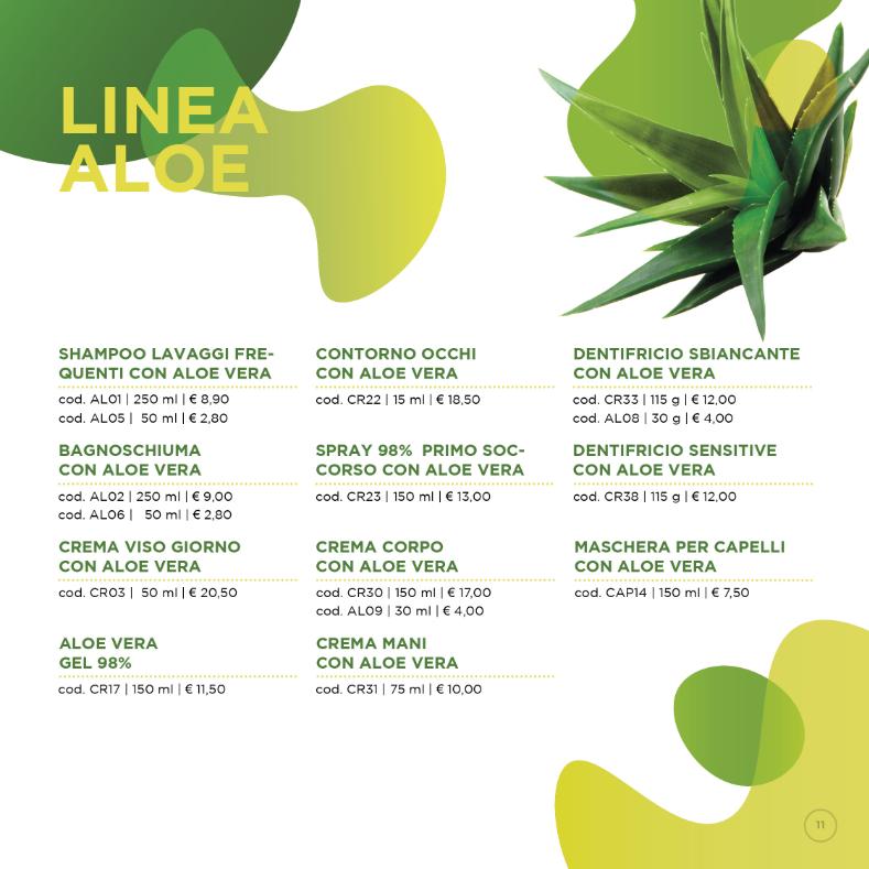 CHOGAN: Prodotti linea Aloe Vera