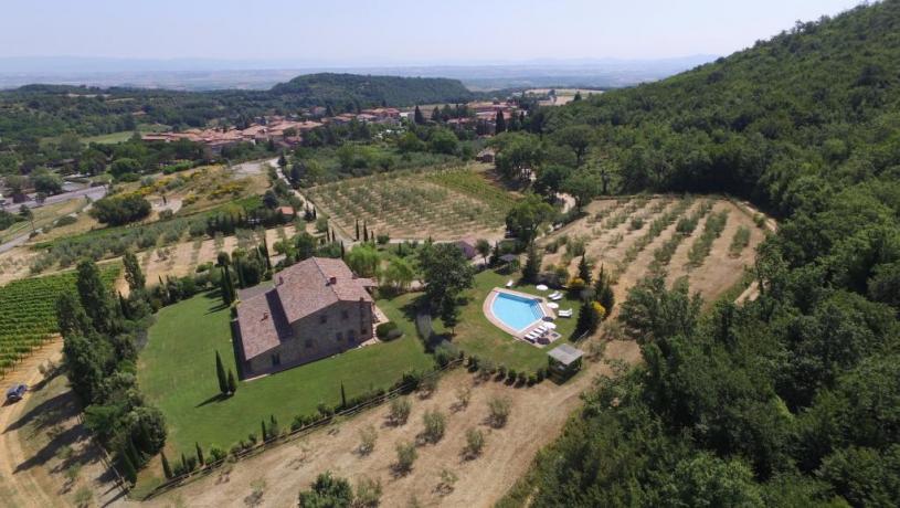 Villa-Casolare a Montepulciano-con-giardino e piscina