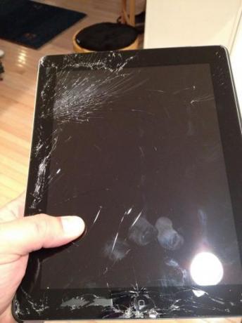 riparazione ipad con schermo rotto