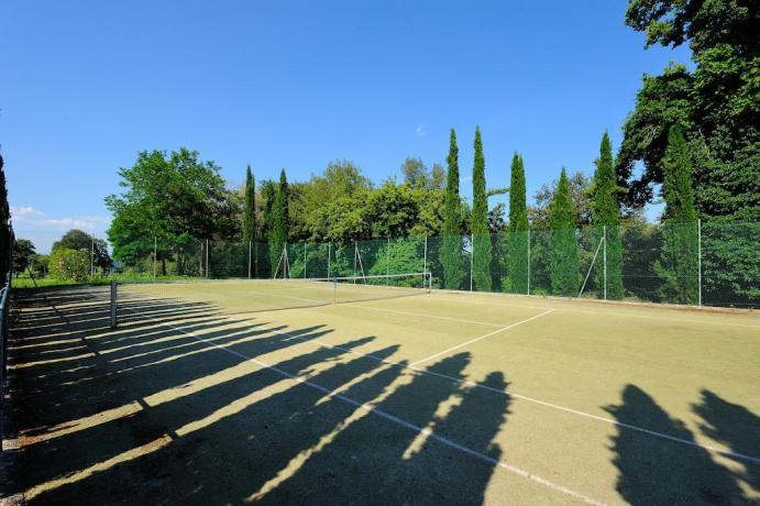 Campo da tennis all'agriturismo di Città della Pieve