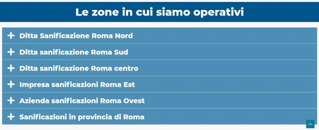 Azienda per Sanificazioni Roma: Centro-Sud-Nord-Est-Ovest