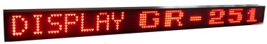 Display led multiriga con scritte scorevoli