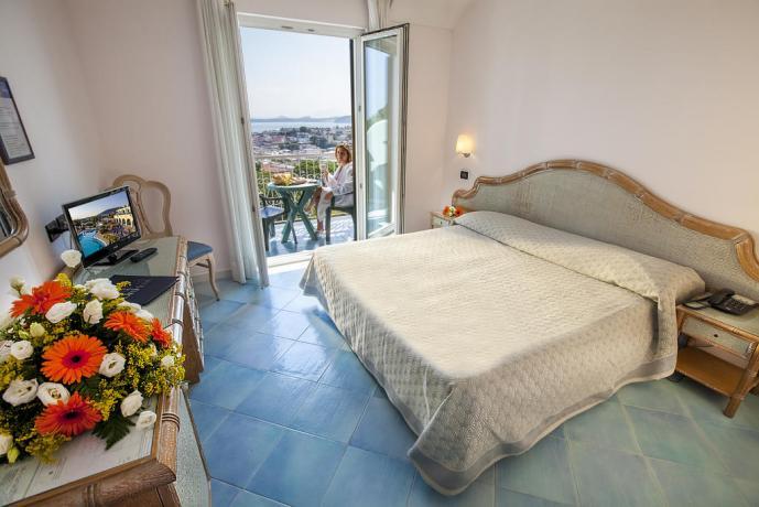 Camera matrimoniale vista mare Hotel Superior Ischia