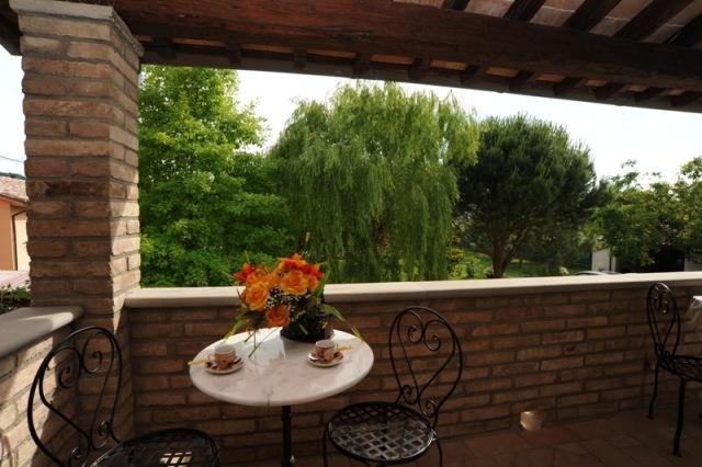 balcone con vista panoramica appartamento Quercia Rossa