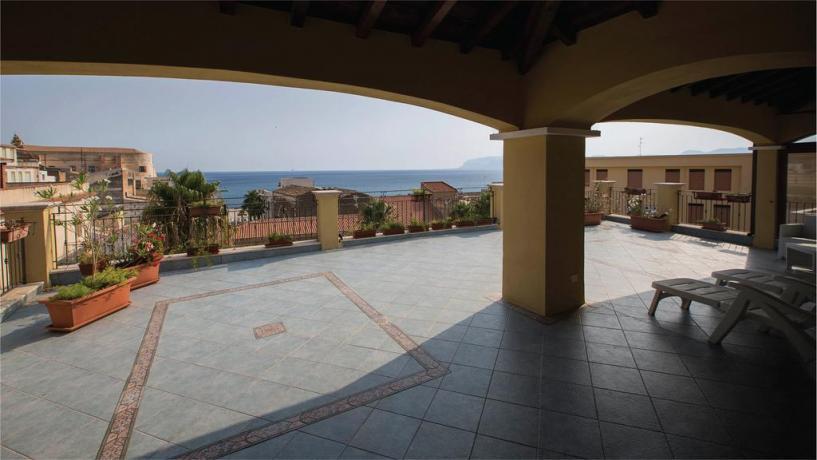 Vista della Terrazza della Suite nell'Hotel