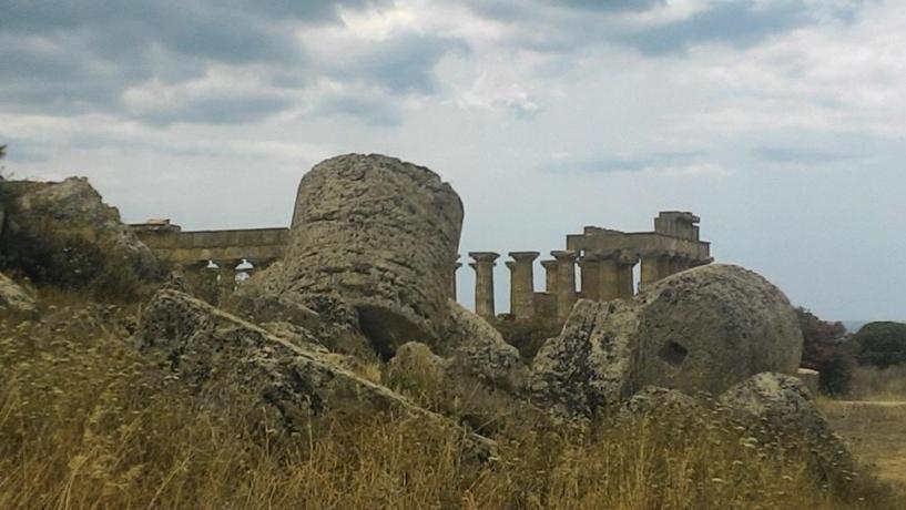 Rovine a Castellammare del Golfo in Sicilia