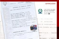 Caldaia con certificato istituto Cargo-Inspect-Oprema.