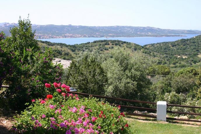 vista della costa smeralda dall'hotel