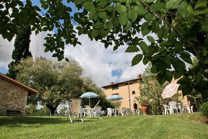 Agriturismo a Gubbio con Verde attrezzato e piscina