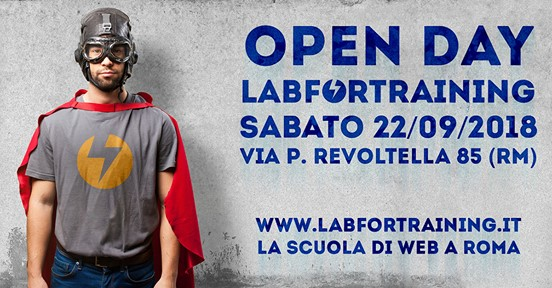 Open Day LABFORTRAINING: sabato 22 settembre 2018