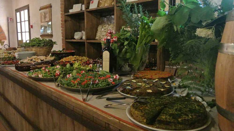 Ristorante, bufett, cucina toscana, vacanza in toscana