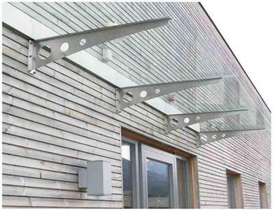 mensole per pensilina in vetro