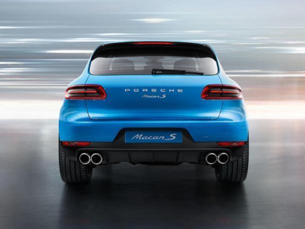 Vista posteriore Porsche Macan 3.0 Prezzo/Noleggio
