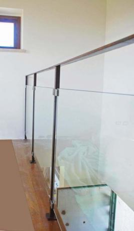 s2-11 parapetto ferro ossidato e vetro