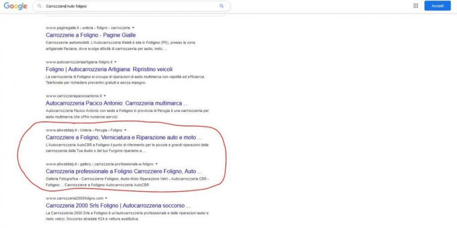 Come Farsi Trovare su Google: Carrozziere-Auto-Foligno