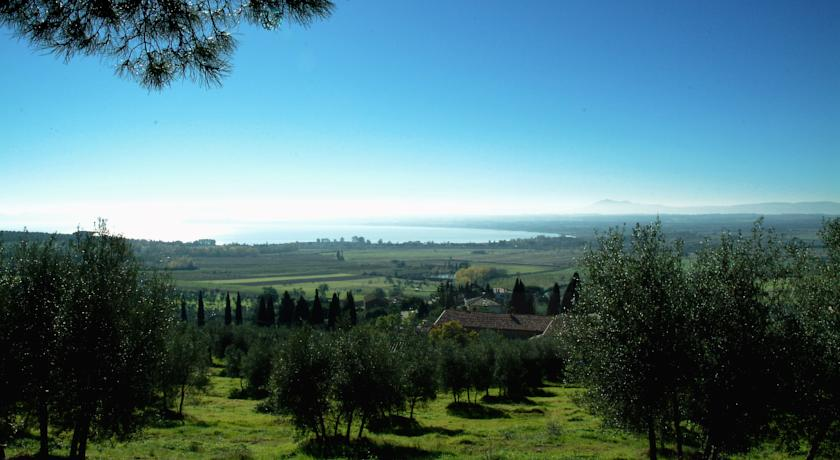 Panoramic view from the rural home