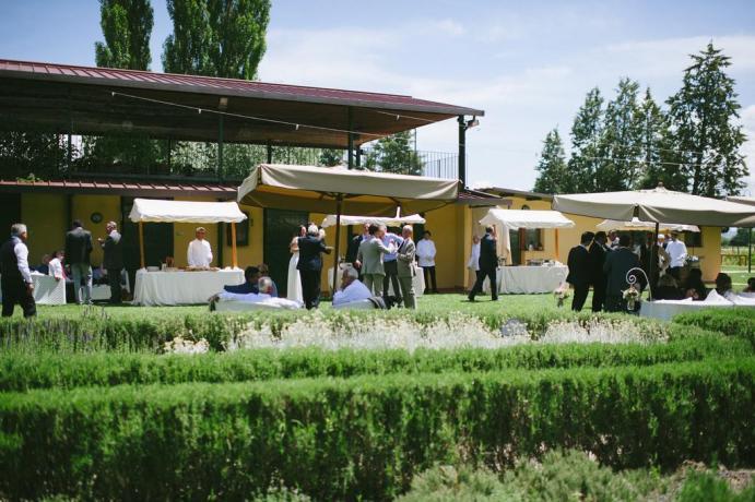 Grande giardino riservato agli ospiti