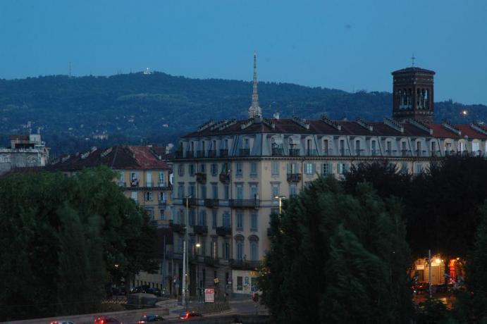 Panorama balcone camere Hotel centro storico Torino