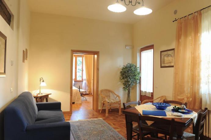 Area soggiorno Appartamento Il Cedro in Umbria