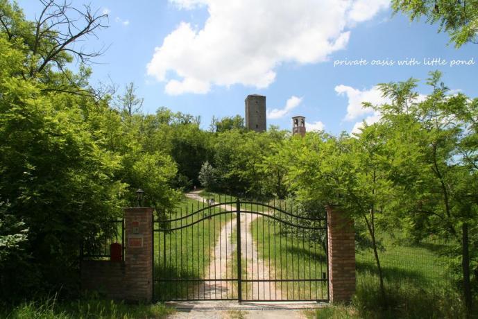 Ingresso casa di campagna B&B vicino Pavia