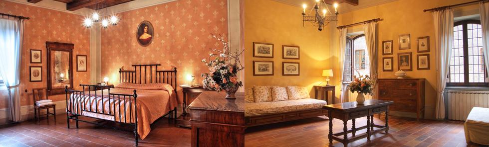 Suite del castello a Gubbio