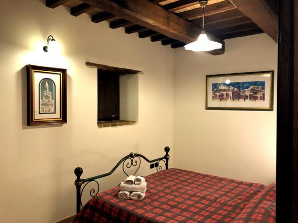 Camera matrimoniale in appartamento vacanza Spello-Assisi