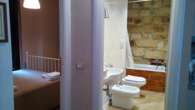 Bagno privato in camera appartamento Crux