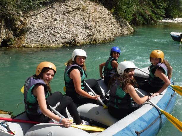Rafting estivo