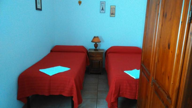 Camere con due letti singoli B&B all'Aquila
