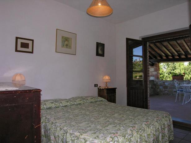 Camera con terrazza panoramica agriturismo vicino Chiusi