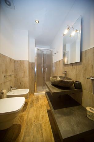 Bagno privato appartamento 3-4posti letto Bardonecchia box doccia