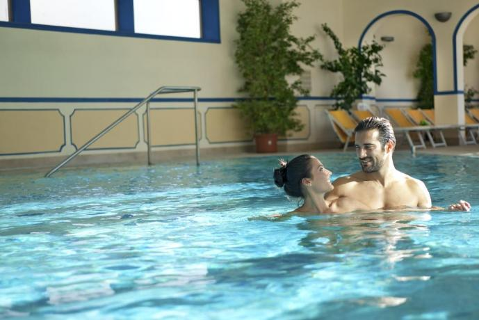 sauna piscine Hotel Albano Terme