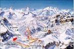 Map of the slopes of La Villa