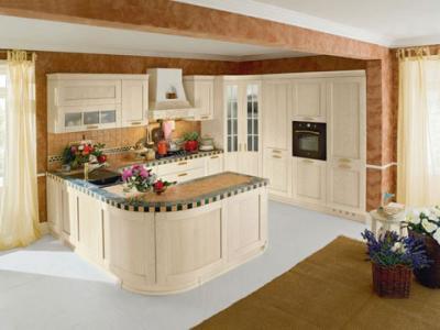 Cucina ad u in legno massello signoressa cucine - Cucine a prezzi bassissimi ...