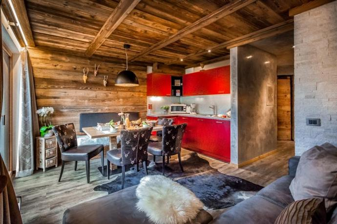 Appartamenti con arredi moderni in Chalet Alta Badia