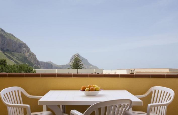 Terrazza con vista appartamento-vacanze Sicilia San-Vito-lo-Capo