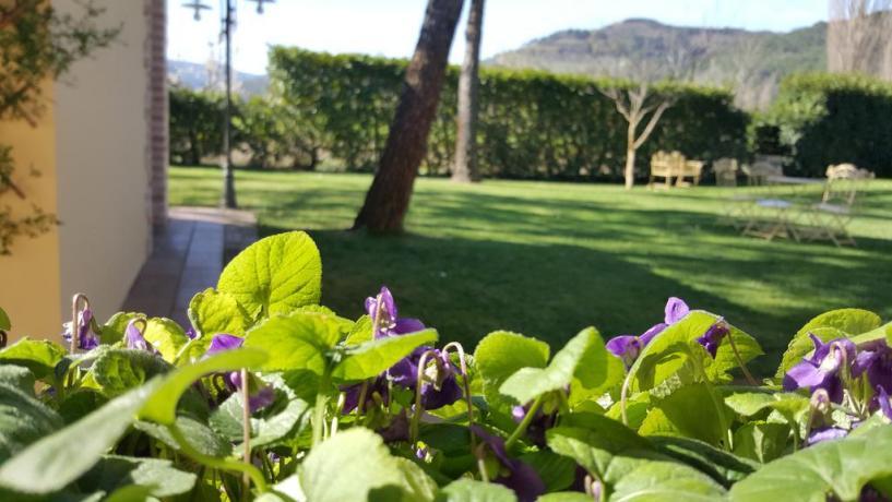 Agriturismo con giardino Valle del Nera in Umbria
