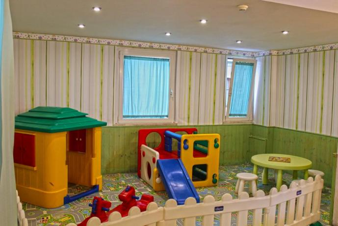 area bambini all'interno dell'Hotel a Cattolica