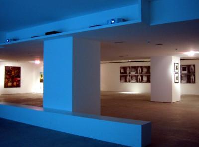 Progettazione illuminazione e teche per mostra arte progettazione