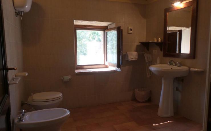 Bagno privato in Country House Canalicchio
