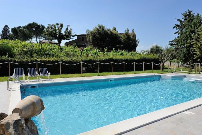 Agriturismo con piscina all'aperto vicino Castiglione del Lago