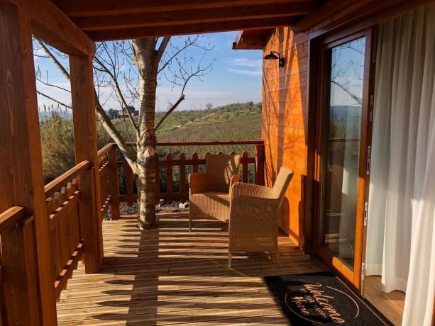 Casa sull'Albero per 2 persone in Agriturismo con Centro Benessere e Piscina Coperta tra Umbria e Toscana