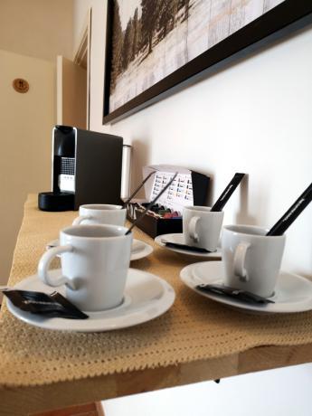 Colazione in camera: ottimo caffè in Agriturismo