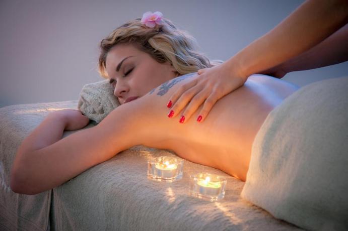 Piacevole massaggio al Centro Benessere dell'hotel campano