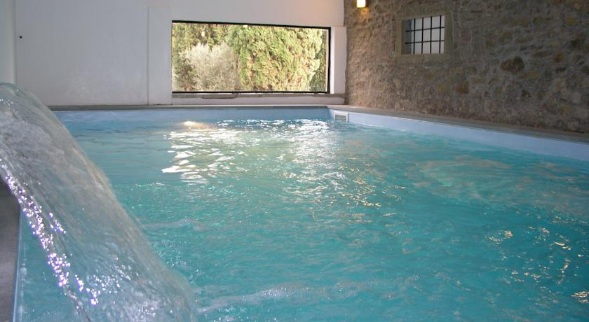 Cured and equipped swimming pool inside