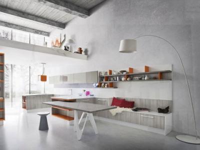 Cucina laccata bianca, mod. IDEA Cucine Componibili Classiche e ...