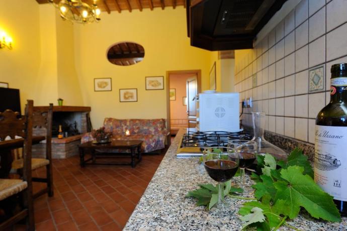 Cucina Appartamento Il Gelsomino a Città della Pieve