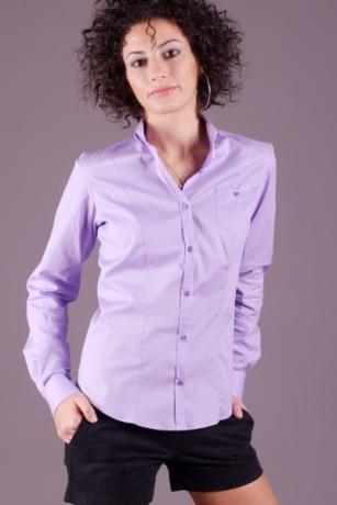 Camicia donna alla coreana maniche lunghe modello